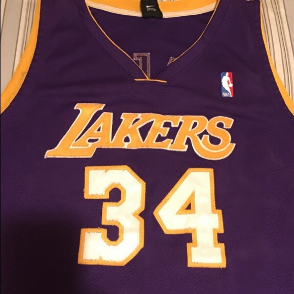 new styles 993d2 ed169 Official NBA Shaquille O'Neal #34 La Lakers Jersey
