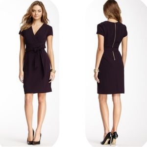 Ellen Tracy Dresses & Skirts - Ellen Tracy Plum Wrap Front Dress