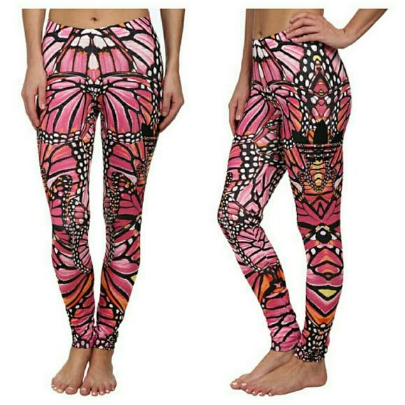 87969d9e514af6 Adidas Pants | Pink Butterfly Leggings Medium | Poshmark