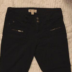 Michael Kors Denim - Michael Kors Black Jeans with Zippers