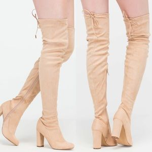Shoes - Nude Thigh High Boots PRE-ORDER