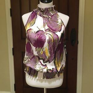 NWT Milano Sleeveless Blouse Size L