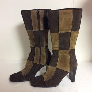 me too Shoes - ME TOO LEATHER PATCHWORK BOOTS