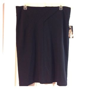 NINE WEST Black knit skirt. Sx 1X. New with tags.