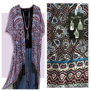 Coldwater Creek Accessories - 🎉HP🎉Wear 3+ ways! Coldwater Creek Scarf Vest NWT
