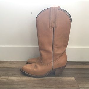 Frye tan colored cowboy boots size 6