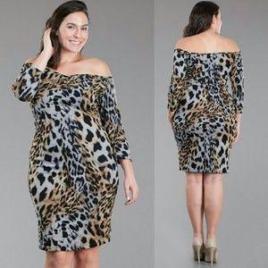 Dresses & Skirts - Plus size leopard print dress 1x 2x 3x