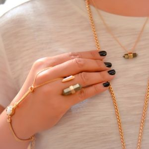 Kendra Scott Iridescent Drusy with ROSE gold chain