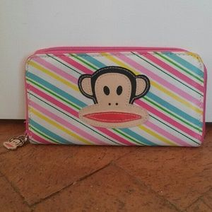 Paul Frank Handbags - Paul Frank Julius PVC Striped Zipper Wallet