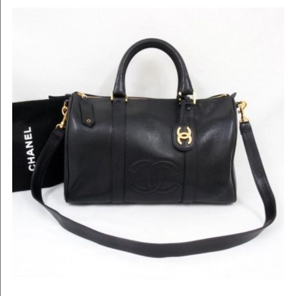 b6529cea4d17 CHANEL Handbags - Authentic Chanel vintage caviar duffle Boston bag