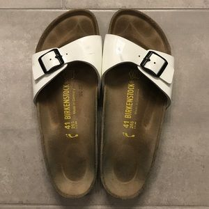Birkenstock Madrid White Patent sandals