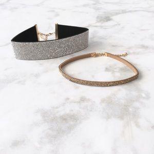Style Link Miami Jewelry - RHINESTONE CHOKER SET