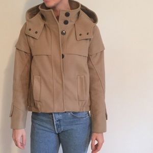 Tan hooded jacket from Zara