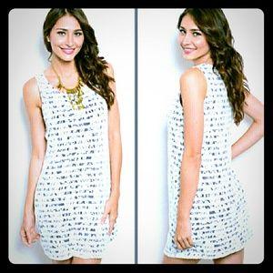 Dresses & Skirts - Floral lace & stripes dress
