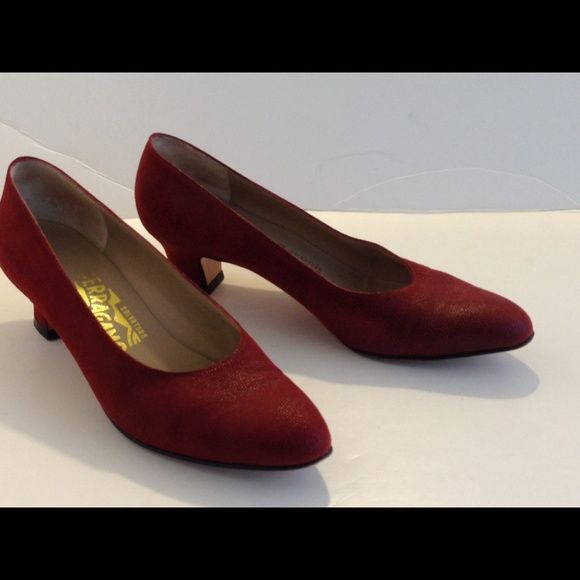 963015f1f7 Salvatore Ferragamo Shoes | Red Leather Vintage Pumps | Poshmark