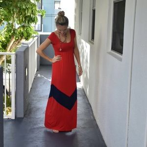 Gabriella Rocha Dresses & Skirts - Gabriella Rocha maxi dress red and blue 🍒🍒🍒