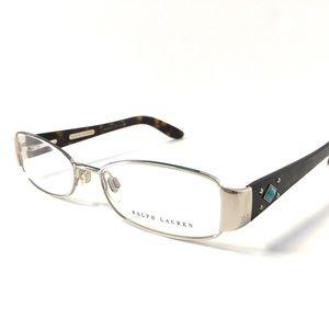 Ralph Lauren Eyeglasses Silver Tortoise Frame