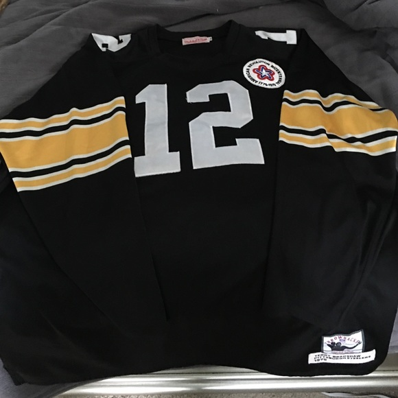 separation shoes e1a4e ed89a Mitchell & Ness Terry Bradshaw Long Sleeve Jersey