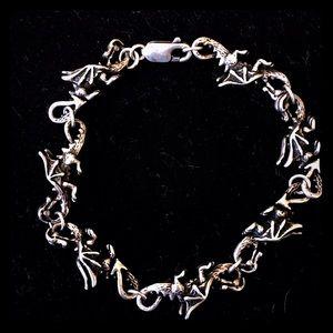 Vintage Jewelry - 🐉Vintage handmade Sterling Silver Dragon Bracelet
