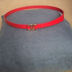Accessories - Red fake Chanel belt