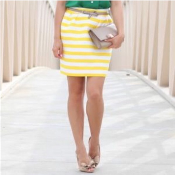 7511333fc2 kate spade Dresses & Skirts - Kate Spade yellow and white striped pencil  skirt