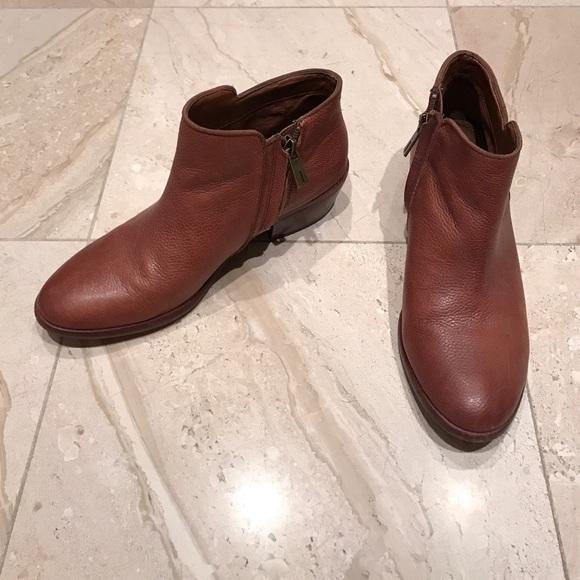 28a3c5748 Sam Edelman Petty cognac leather bootie