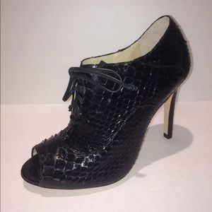 Alexandre Birman Shoes - Alexandre Birman Lace Up Python Bootie