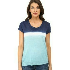 Two by Vince Camuto Tops - Dip dye 100% Linen Tee