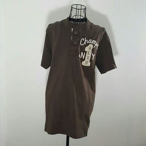 Aeropostale Other - NWT S HENLEY THICK T SHIRT SOFT BROWN