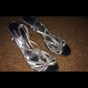 Beautiful silver glitter sandals