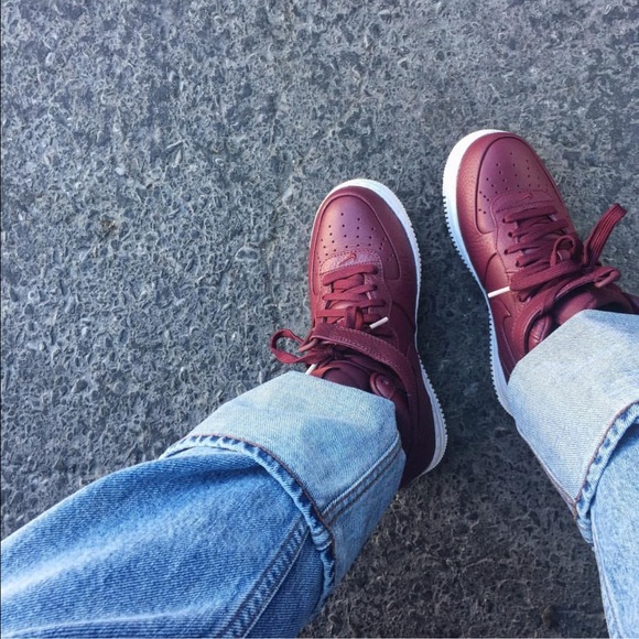 nouveau style af338 7f985 Nike Lab Air Force 1 mid in Night Maroon