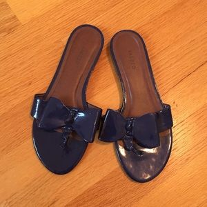AREZZO, Blue Bow Sandals, Size7