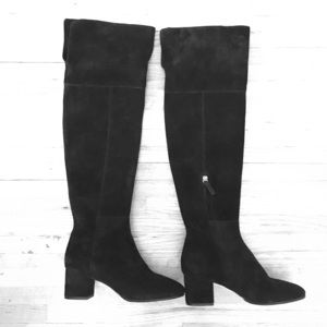 Club Monaco Over-the-knee blk suede Andreea Boots