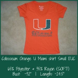 Colosseum Tops - Colosseum Athletics Miami Hurricanes top Small