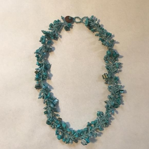 Jewelry - Handmade mixed media necklace