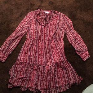 BCBGENERATION NWOT paisley boho ruffle dress L