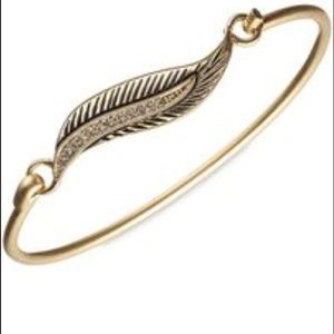 lonna & lilly Jewelry - Lonna and Lilly Goldtone  feather bangle bracket