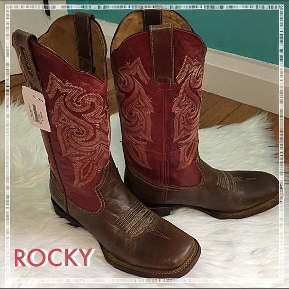 741e943b725 Rocky Handhewn Women's Square Toe Western Boot NWT