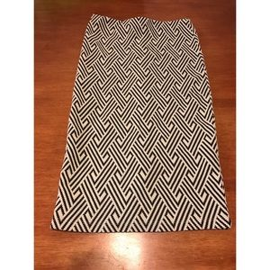 Zara Patterned Midi Skirt