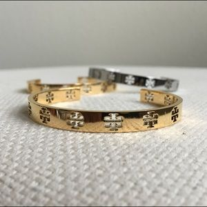 Tory Burch Pierced T Cuff In Gold