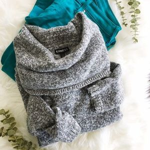 {express} cowl neck sweater
