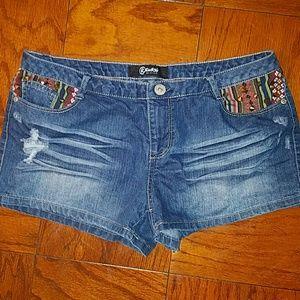 Rewash Pants - Junior's denim shorts