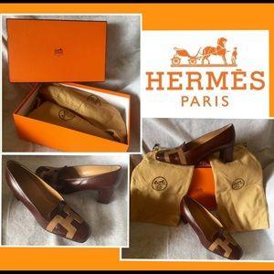 Hermes Shoes - Choco Mocca Mono Hermes Classic Shoe