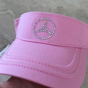 1b4900382e4 OTTO Accessories - Pink bling new Mercedes Benz Visor hat logo golf