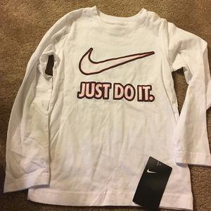 Nike Other - Sale NWT boys wht 💯 cotton just do it lng slv srt