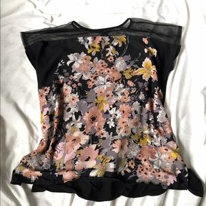 Tops - Maternity Floral Tunic Top