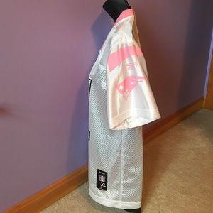 Reebok Shirts   Tops - Pink   White Patriots Throwback Jersey Randy Moss 1ba5d3c57