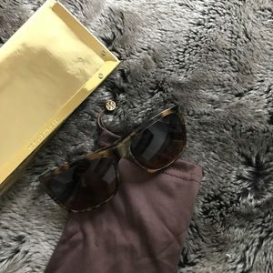Tory Burch Square Tortoiseshell Sunglasses
