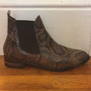 Freda Salvador Snake Skin Chelsea Boots