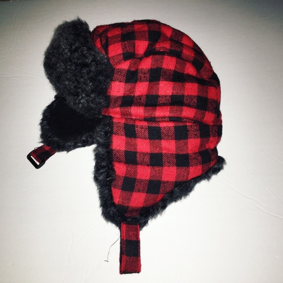 c41227609e10c Toddler Boy Buffalo Plaid Trapper Hat